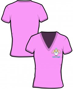 "S039-GD91: ""Ickle Angel"" Ladies v-neck t-shirt"