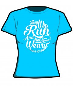 "S228-JC005: ""Weary"" Girlie cool wicking/quick dry tee"