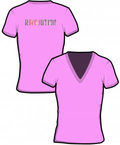 "S148-GD91: ""Revolution"" Ladies v-neck t-shirt"