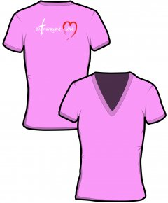 "S206-GD91: ""Extravagant Love"" Ladies v-neck t-shirt"