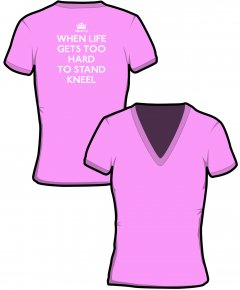 "S185-GD91: ""When Life Gets"" Ladies v-neck t-shirt"